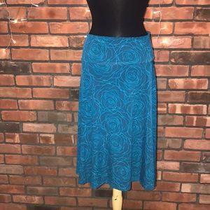 LulaRoe Rose Pattern Bright Blue Soft Flowy